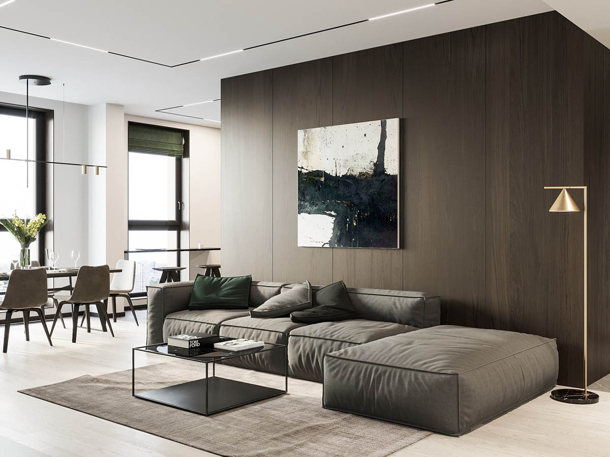 Interior Design Around Walnut Wood Finishes: 3 Great Examples