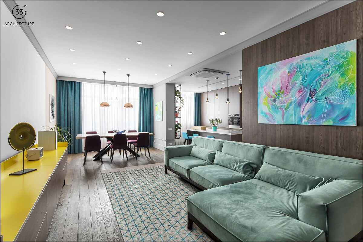 Apartment With Energised Colour Scheme images 1