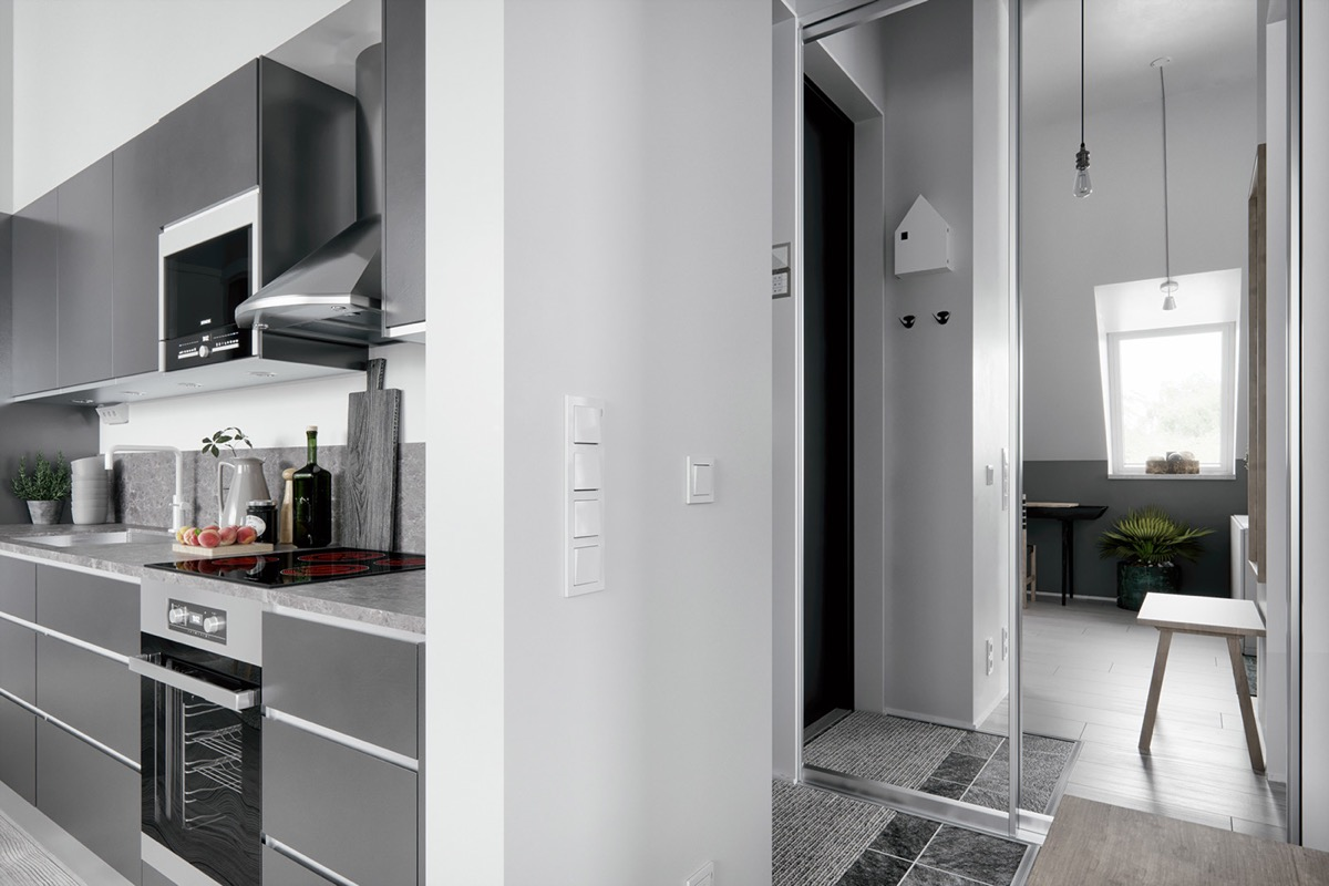 2 Gorgeous Attic Apartments That Use Grey As Base images 11
