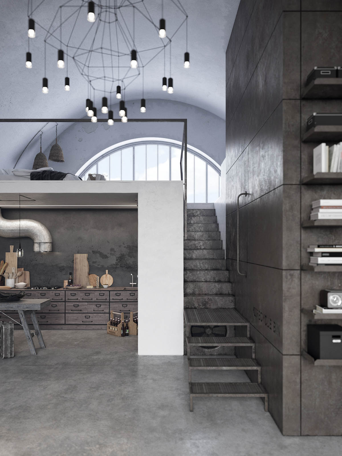 Two Examples Of Industrial Modern Rustic Interior Design images 12