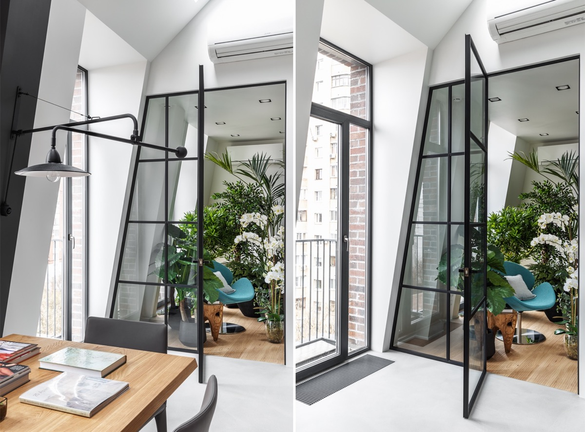 2 Gorgeous Attic Apartments That Use Grey As Base images 27