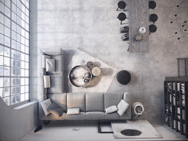 Two Examples Of Industrial Modern Rustic Interior Design