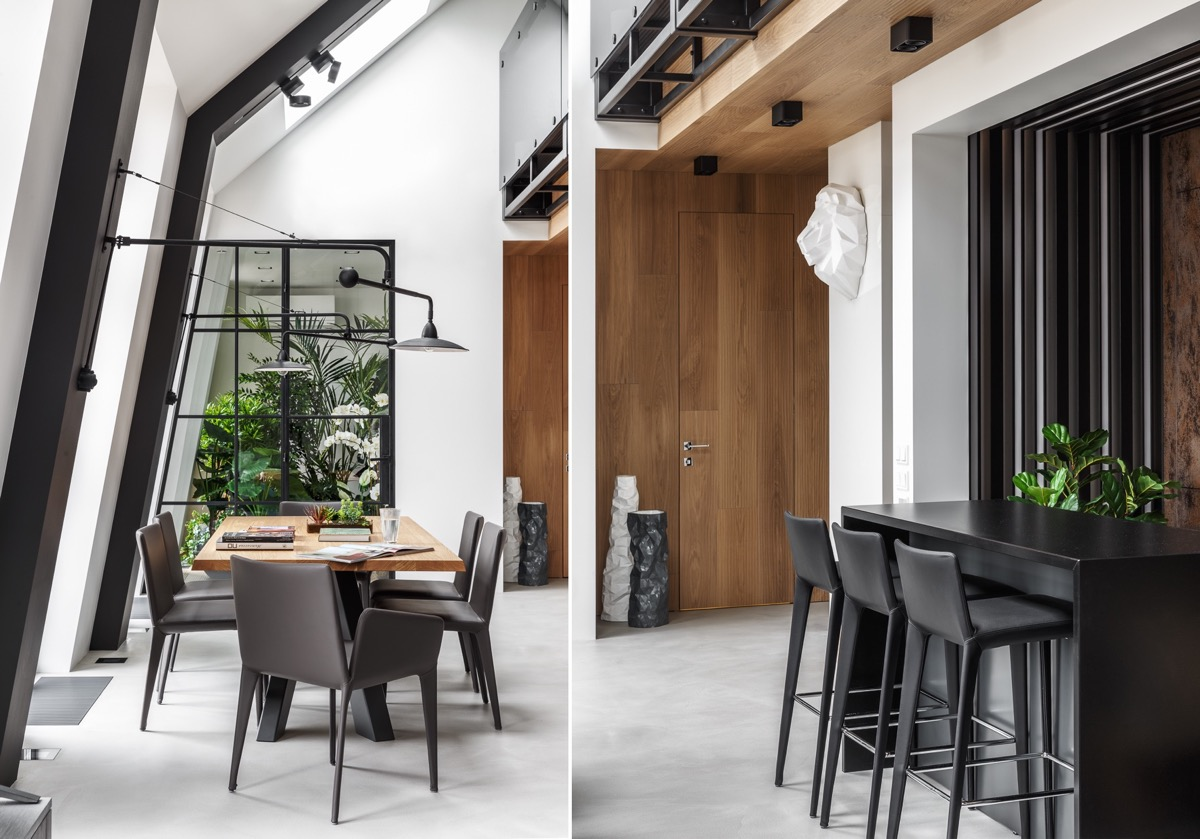 2 Gorgeous Attic Apartments That Use Grey As Base images 26