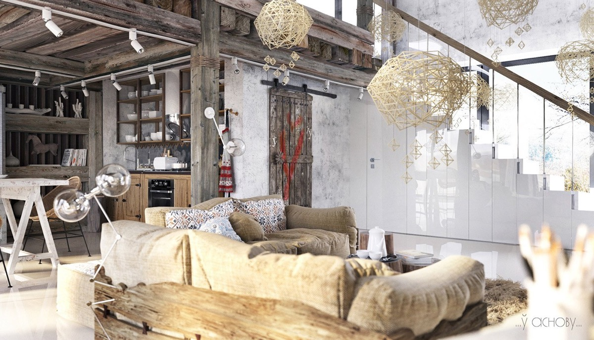 Two Examples Of Industrial Modern Rustic Interior Design images 24