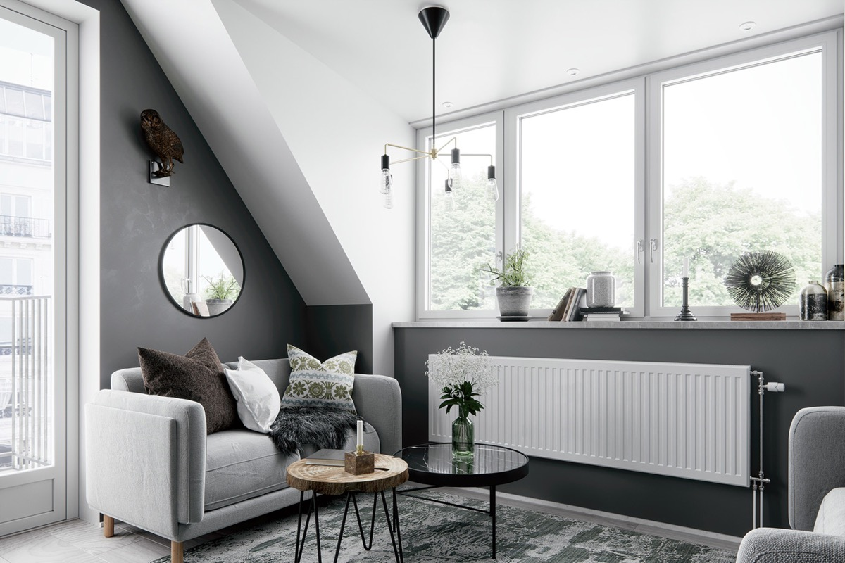 2 Gorgeous Attic Apartments That Use Grey As Base images 1