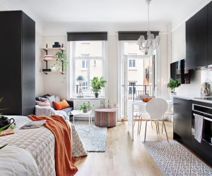 Lovely A Selection Of Four Great Small Studio Apartment Interiors ...