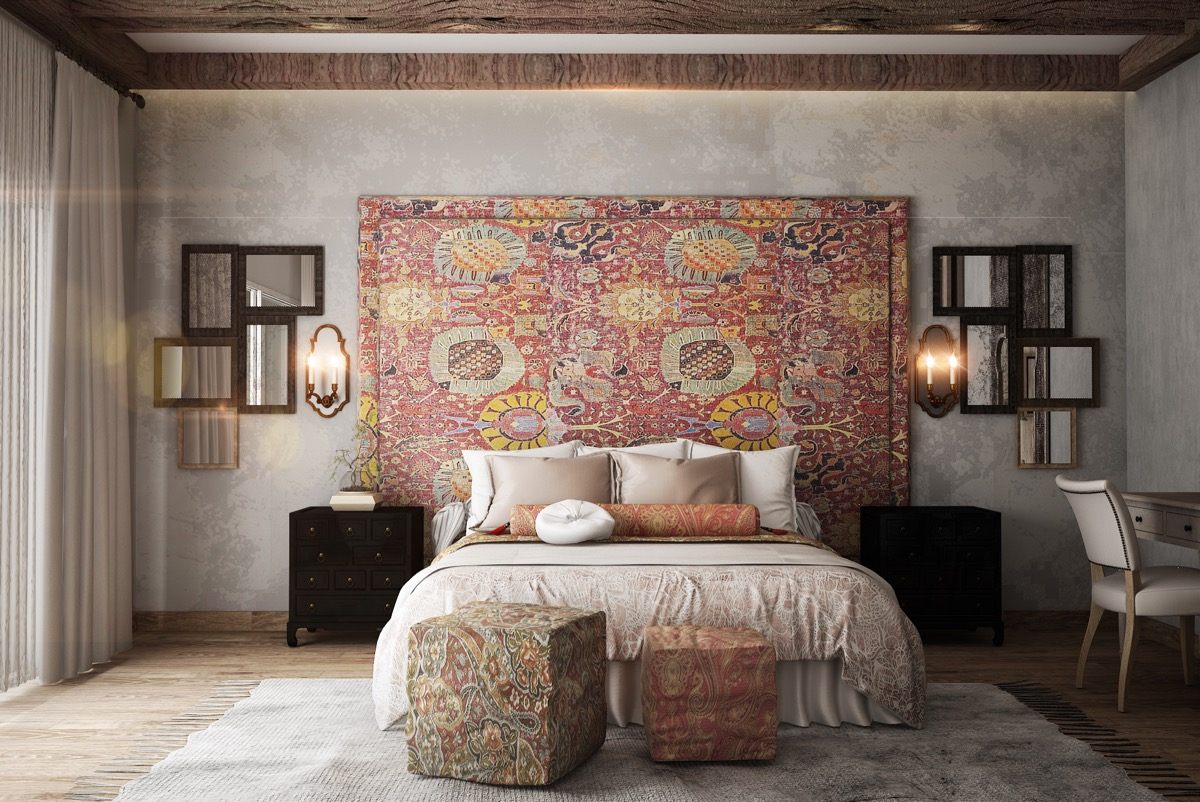 Rustic bedrooms guide inspiration for designing them for Rustic wallpaper ideas