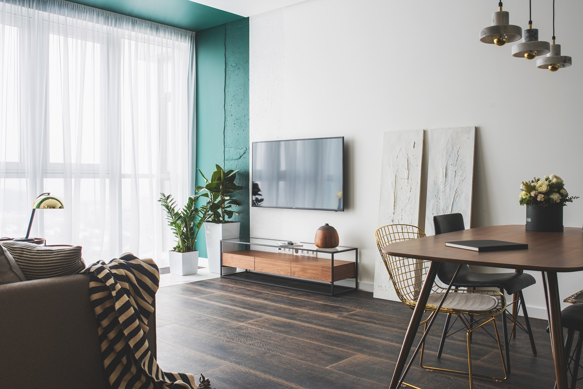 Green and Gold Interior With Modern Eclectic Vibe [Includes Floor Plans] images 4