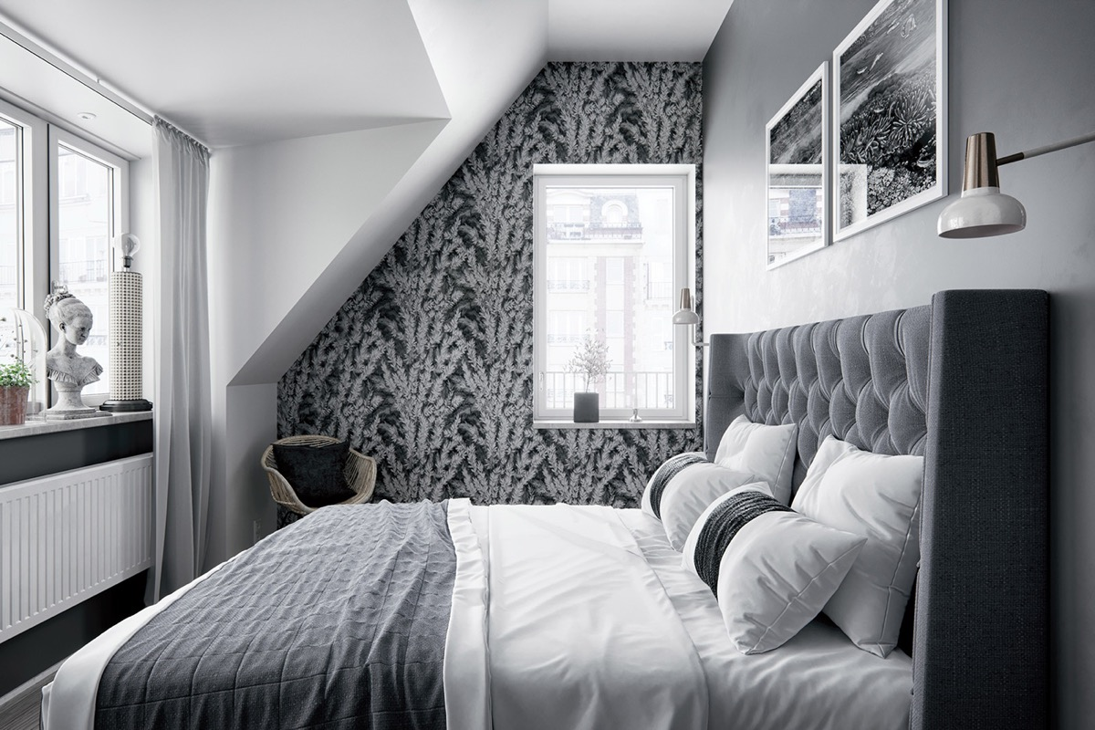 2 Gorgeous Attic Apartments That Use Grey As Base images 10