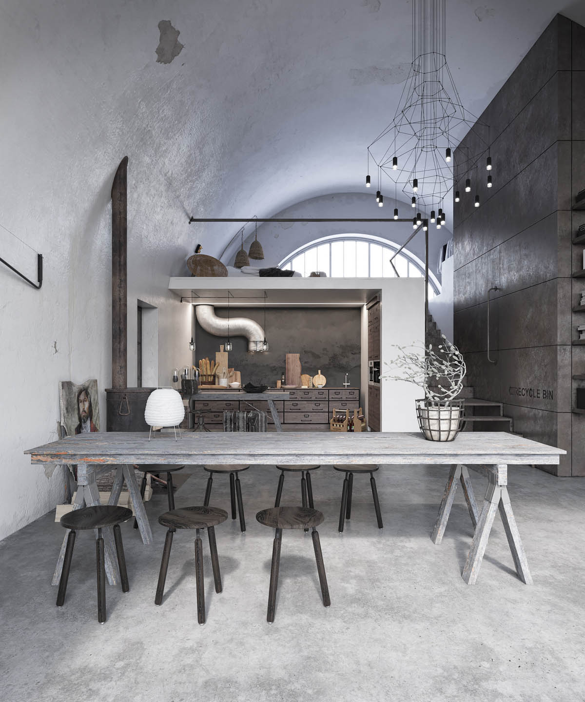 Two Examples Of Industrial Modern Rustic Interior Design images 5