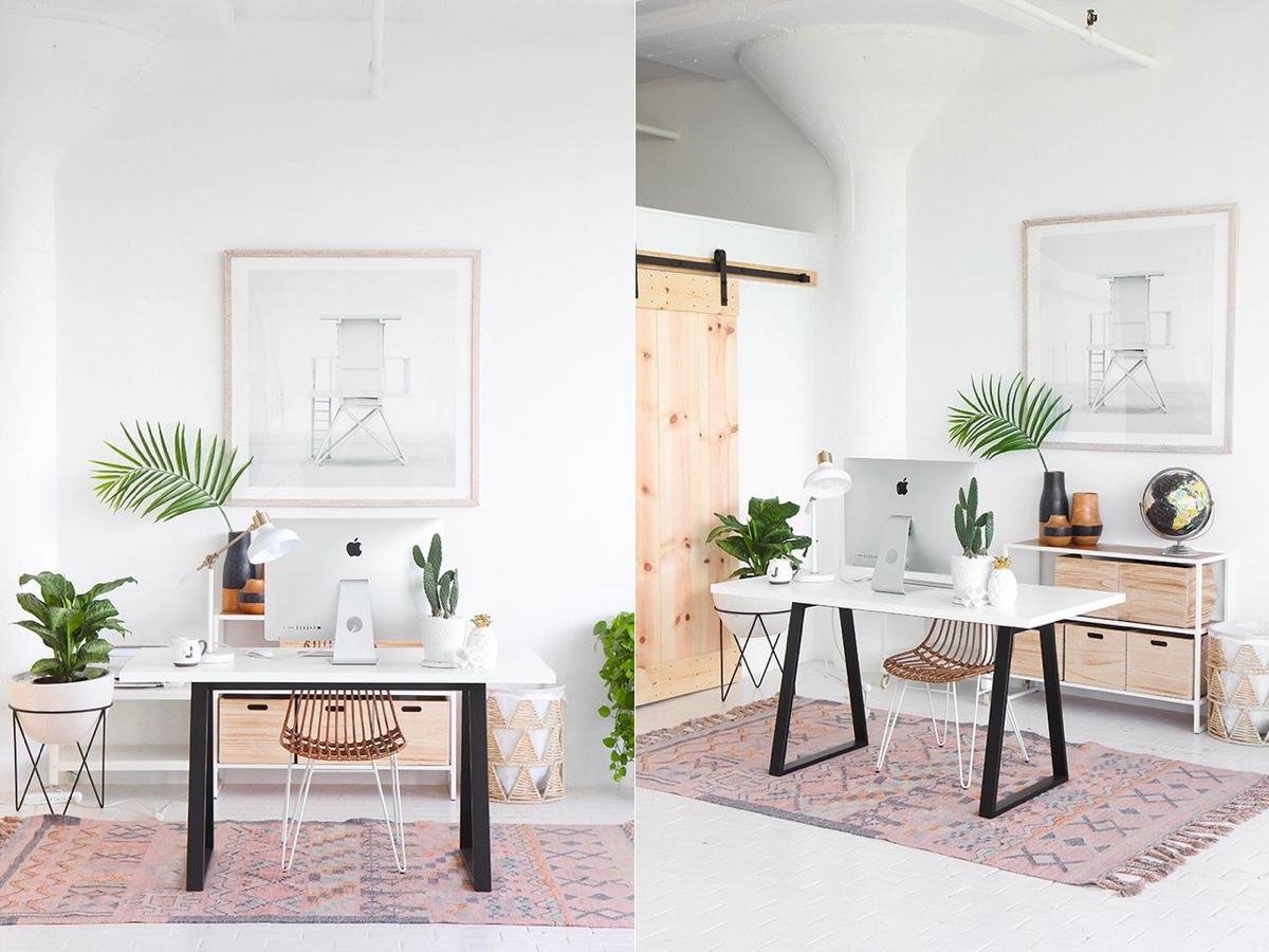 Botanical home office 1 - Download Modern Small Home Office Design Ideas PNG