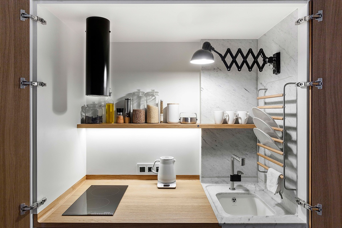Compact Multifunctional Flat With Zoning Ideas images 10