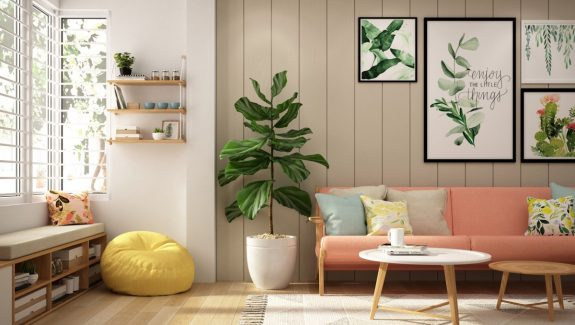 Colourful Interiors With Connection: Green, Coral, Blue And Yellow Decor