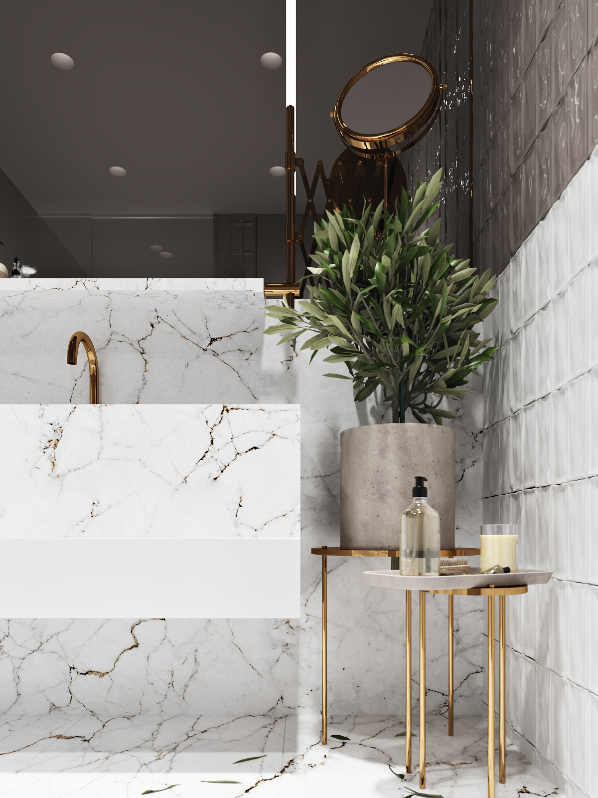 Using Gold Accents In Interior Design images 28
