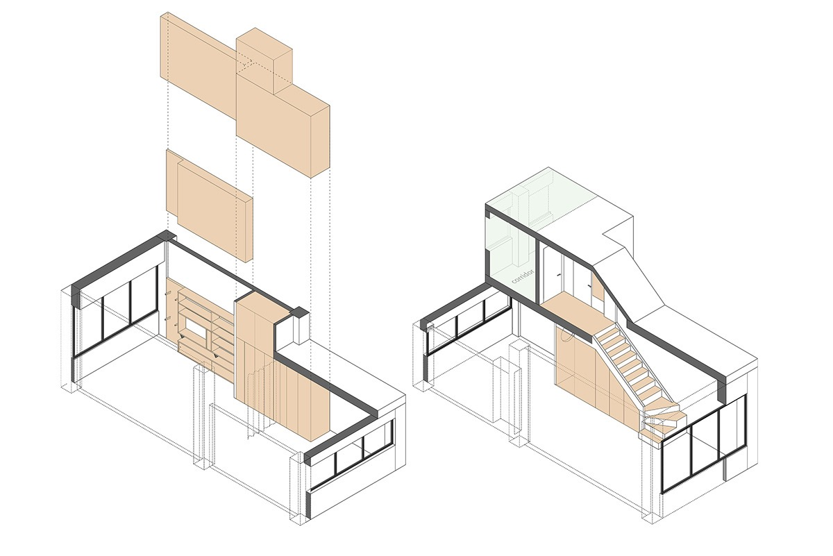 Compact Multifunctional Flat With Zoning Ideas images 27
