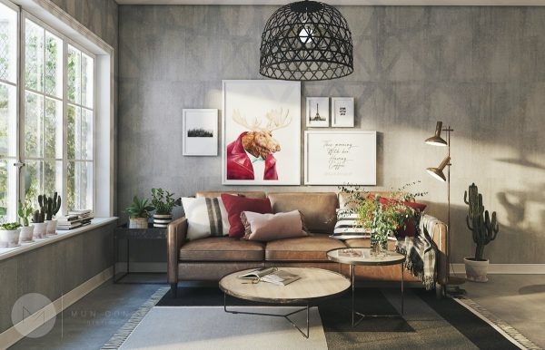 How To Use Colors To Spice Up A Concrete Decor Scheme: 3 Examples