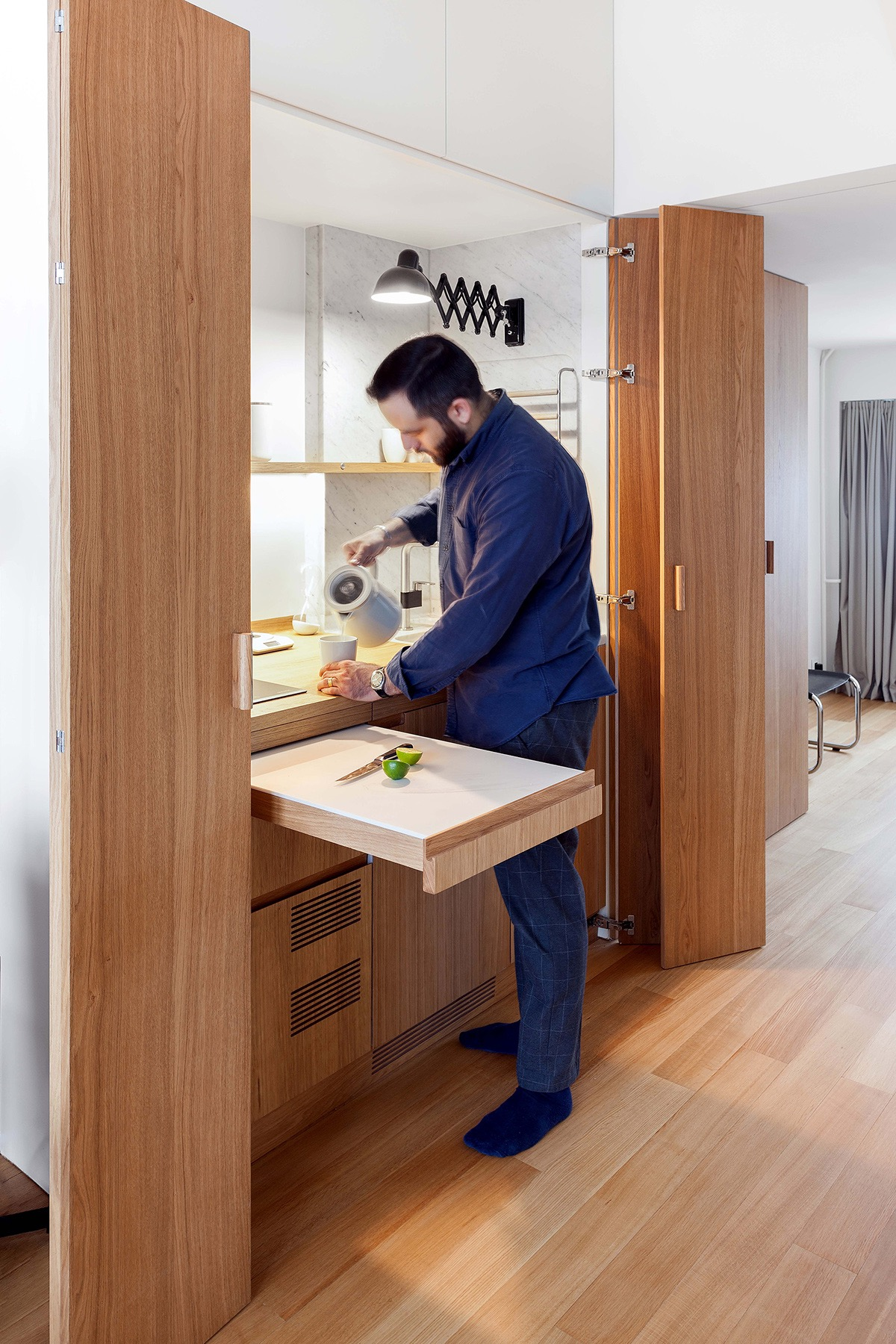 Compact Multifunctional Flat With Zoning Ideas images 11