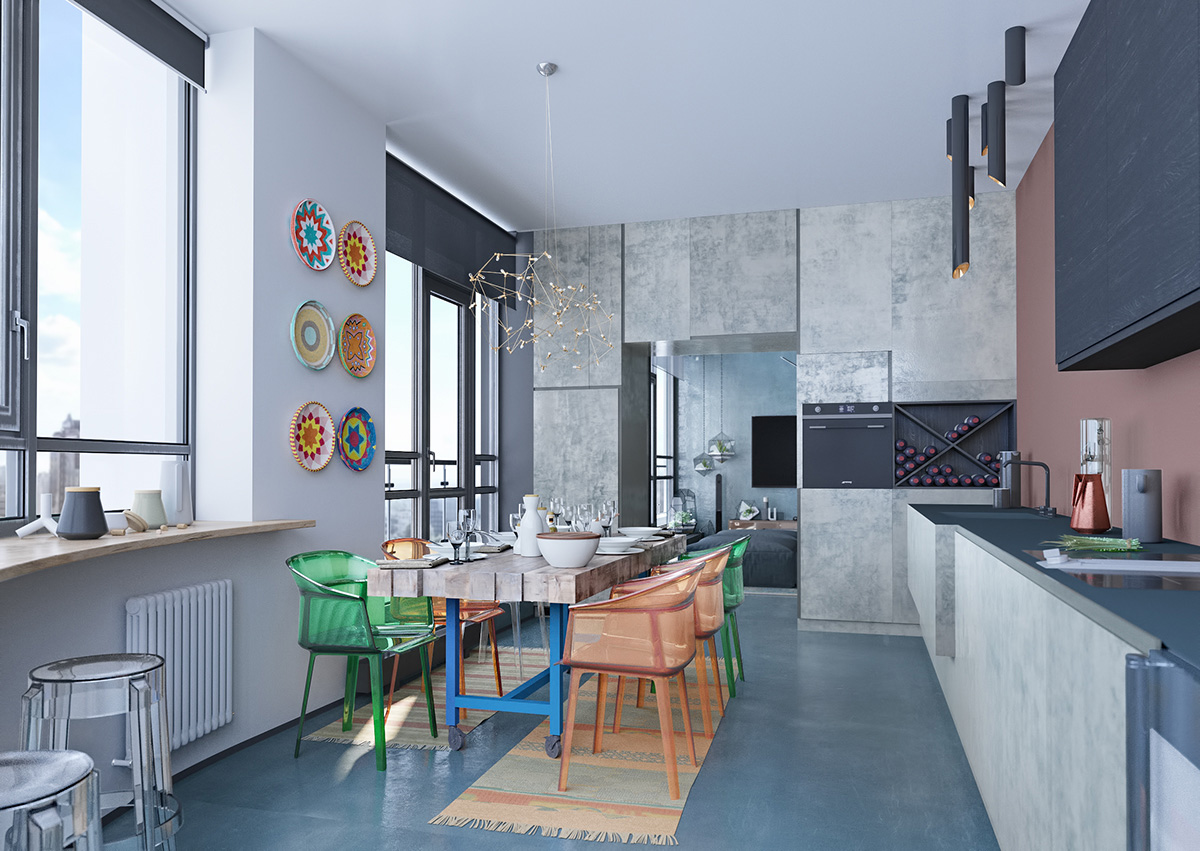 How To Use Colors To Spice Up A Concrete Decor Scheme: 3 ...