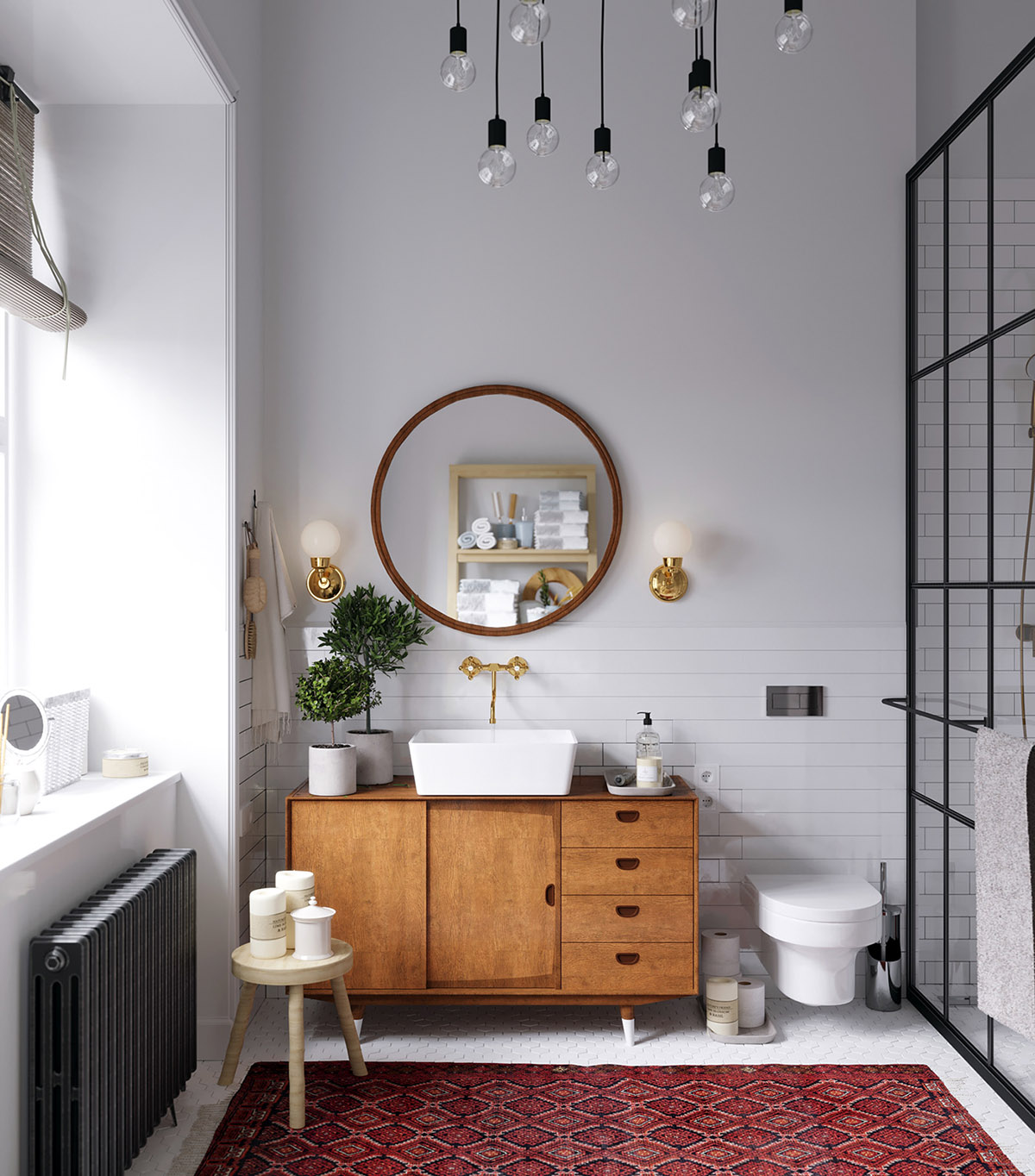 Earthy Eclectic Scandinavian Style Interior images 24