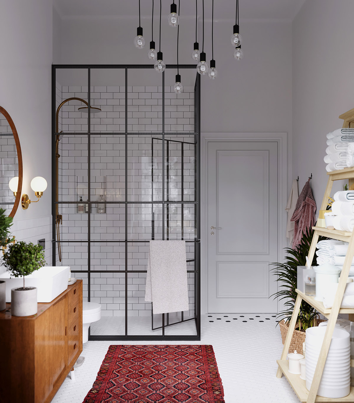Earthy Eclectic Scandinavian Style Interior images 25