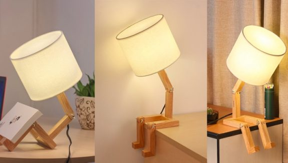Product Of The Week: Cute Wooden Stick Figure Lamp