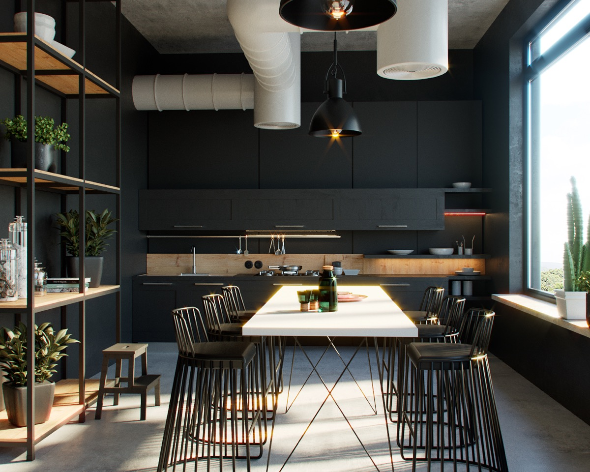 33 Black Dining Rooms That Your Dinner Guests Will Adore images 22