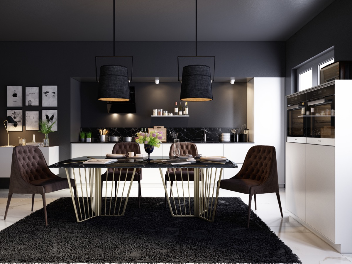 33 Black Dining Rooms That Your Dinner Guests Will Adore images 23