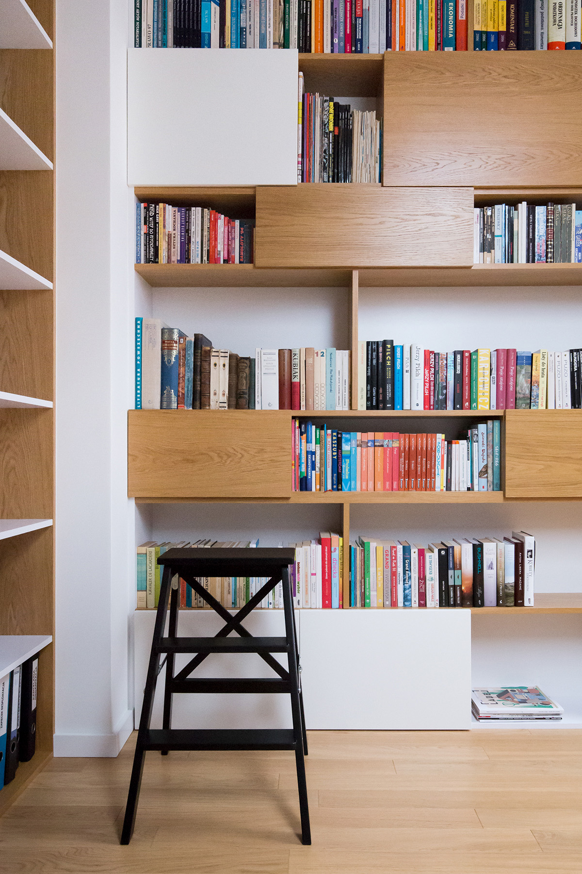 The Home Office Bookcase Has A Number Of Concealed Storage