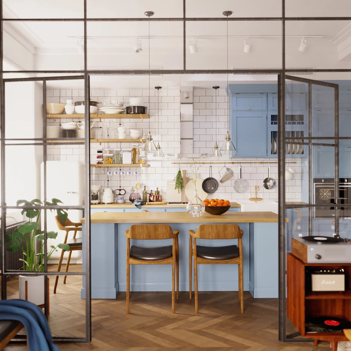 Earthy Eclectic Scandinavian Style Interior images 8