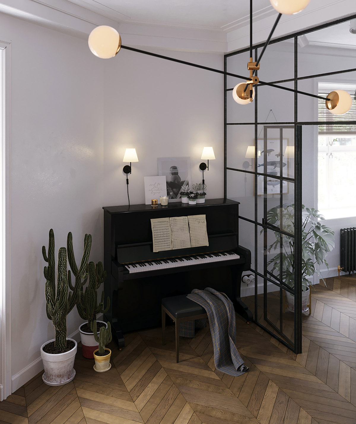 Earthy Eclectic Scandinavian Style Interior images 5