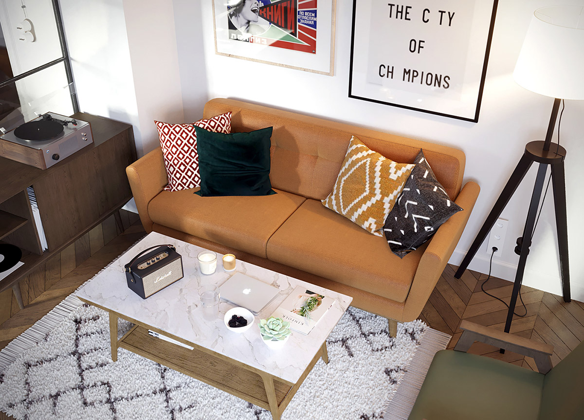 Earthy Eclectic Scandinavian Style Interior images 3