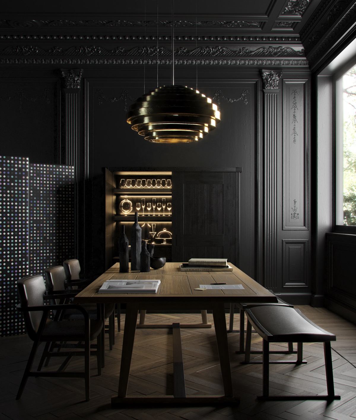 33 Black Dining Rooms That Your Dinner Guests Will Adore images 2