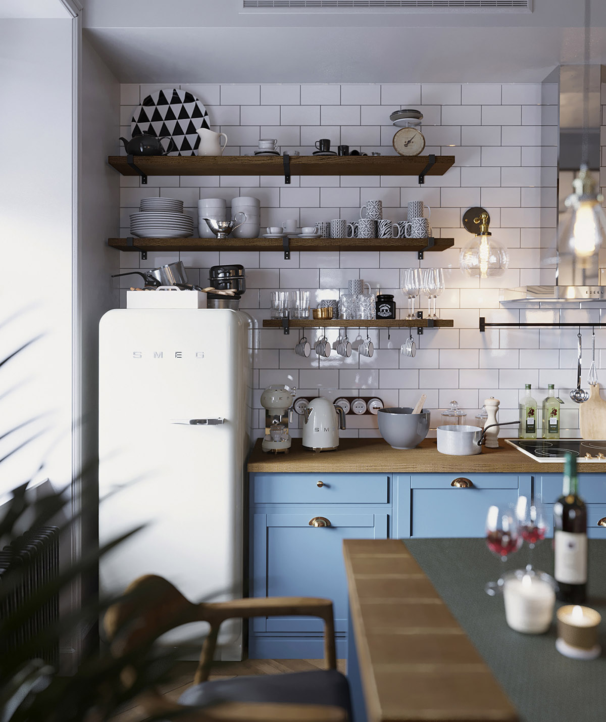 Earthy Eclectic Scandinavian Style Interior images 14