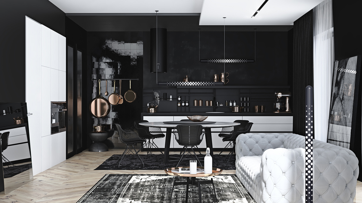 33 Black Dining Rooms That Your Dinner Guests Will Adore images 24