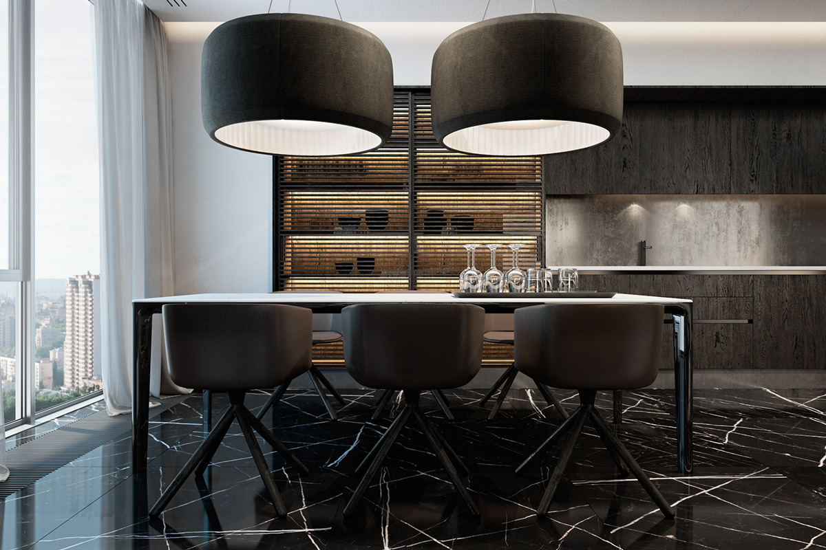 33 Black Dining Rooms That Your Dinner Guests Will Adore images 27
