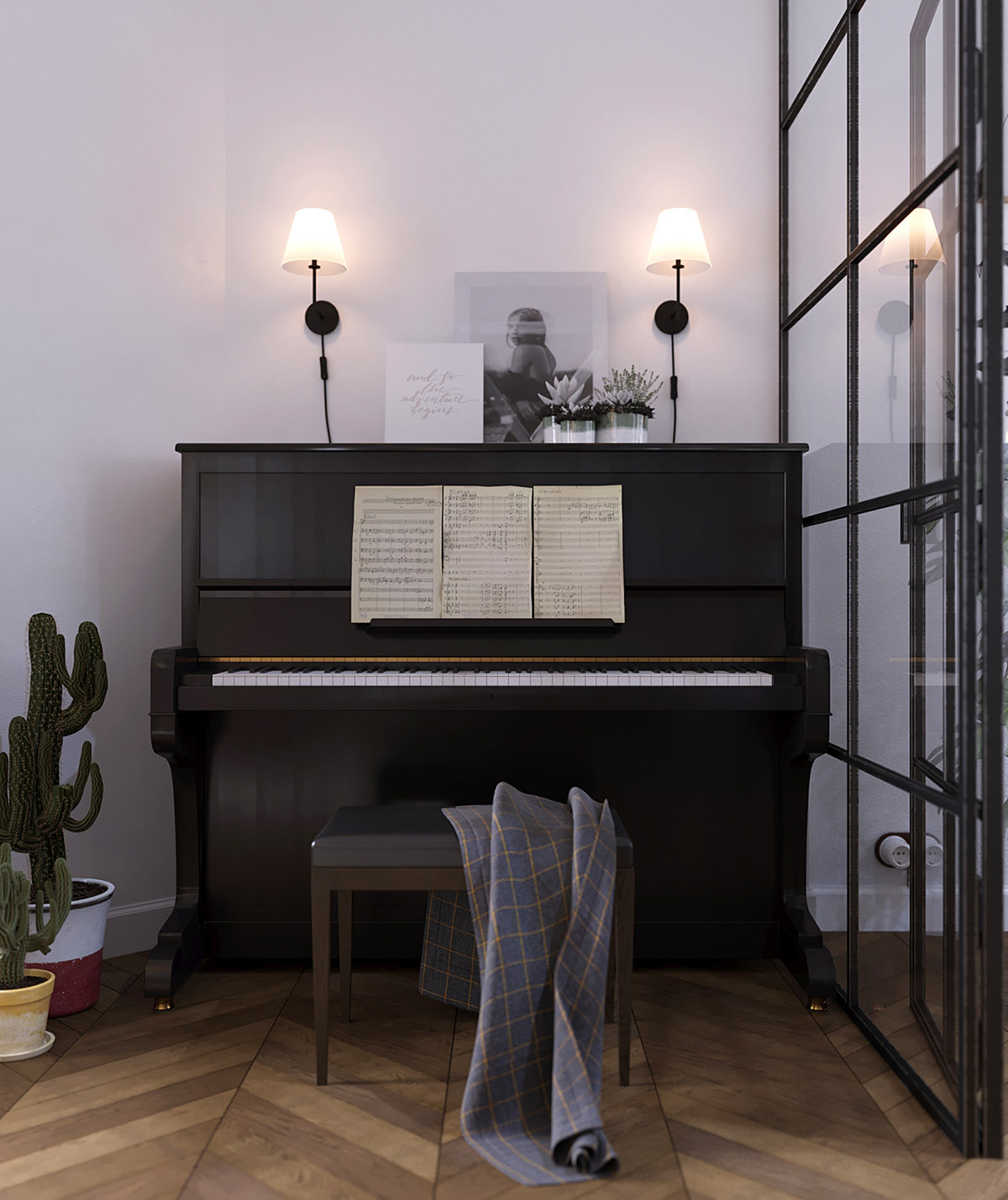 Earthy Eclectic Scandinavian Style Interior images 6