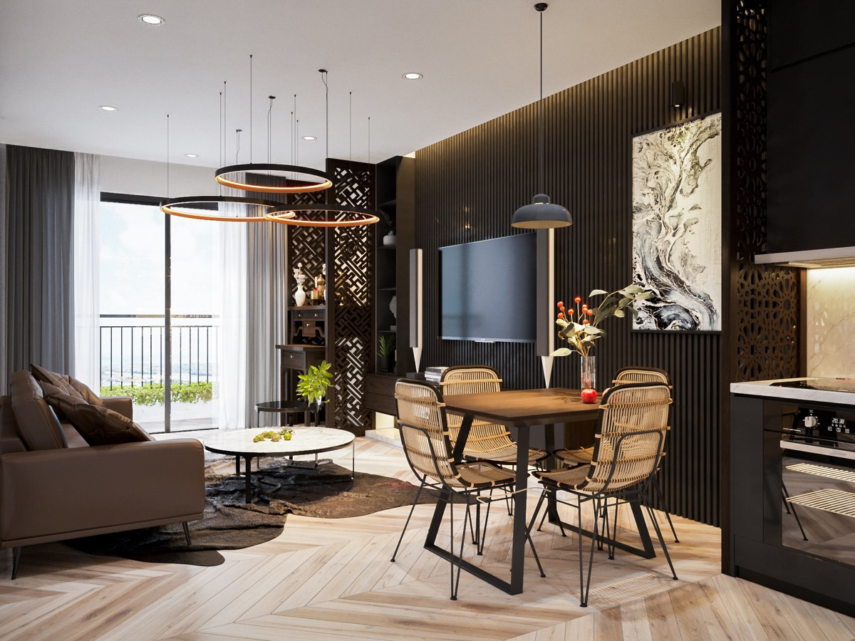 33 Black Dining Rooms That Your Dinner Guests Will Adore images 6