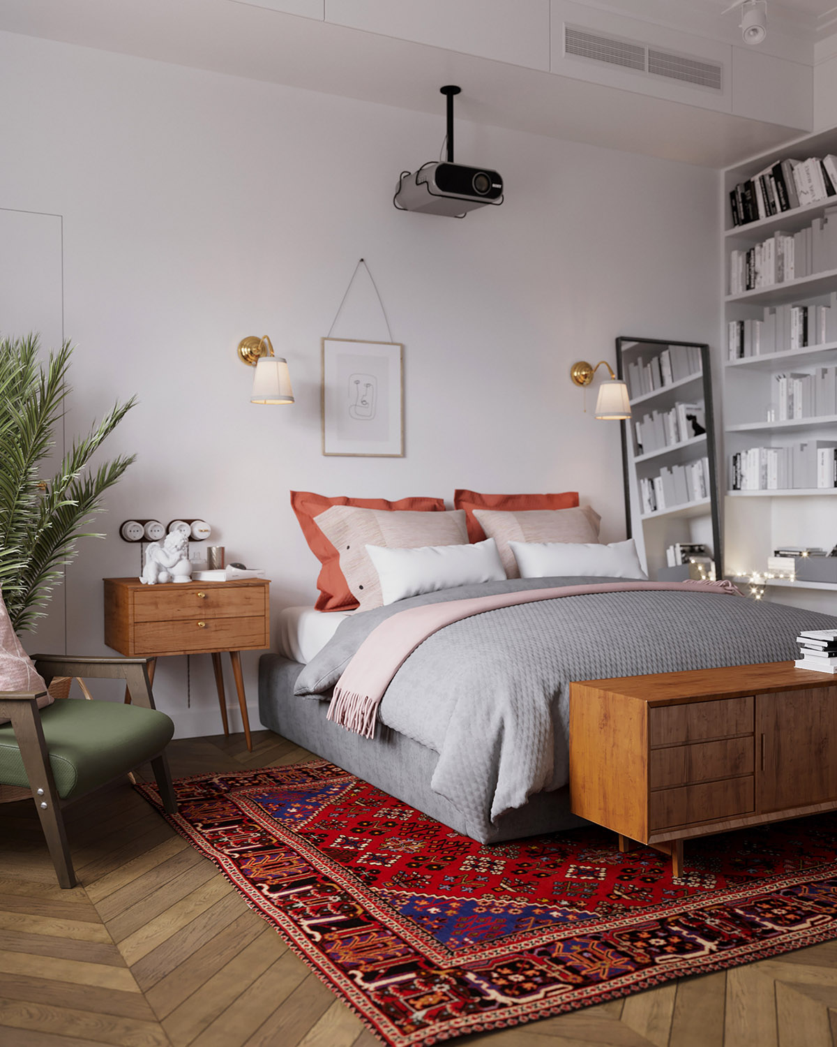 Earthy Eclectic Scandinavian Style Interior images 16