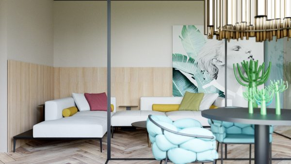 Summer Colours Decor And Interior Zoning Technique
