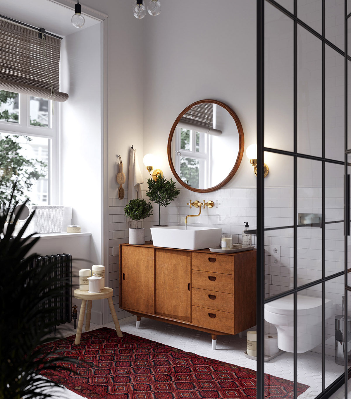 Earthy Eclectic Scandinavian Style Interior images 23