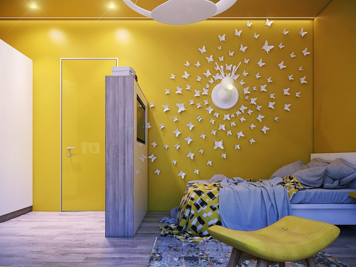Yellow Kidsai??i?? Rooms: How To Use And Combine Bright Decor  