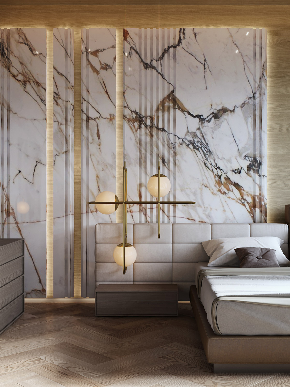 Interior Design Using Marble And Wood Combinationsworld