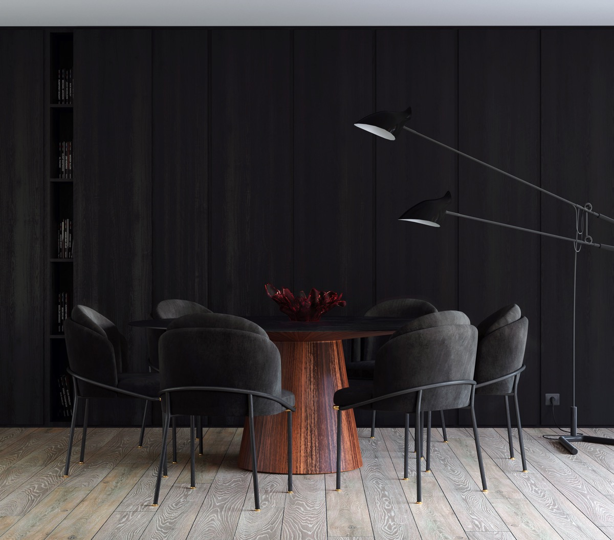33 Black Dining Rooms That Your Dinner Guests Will Adore images 11