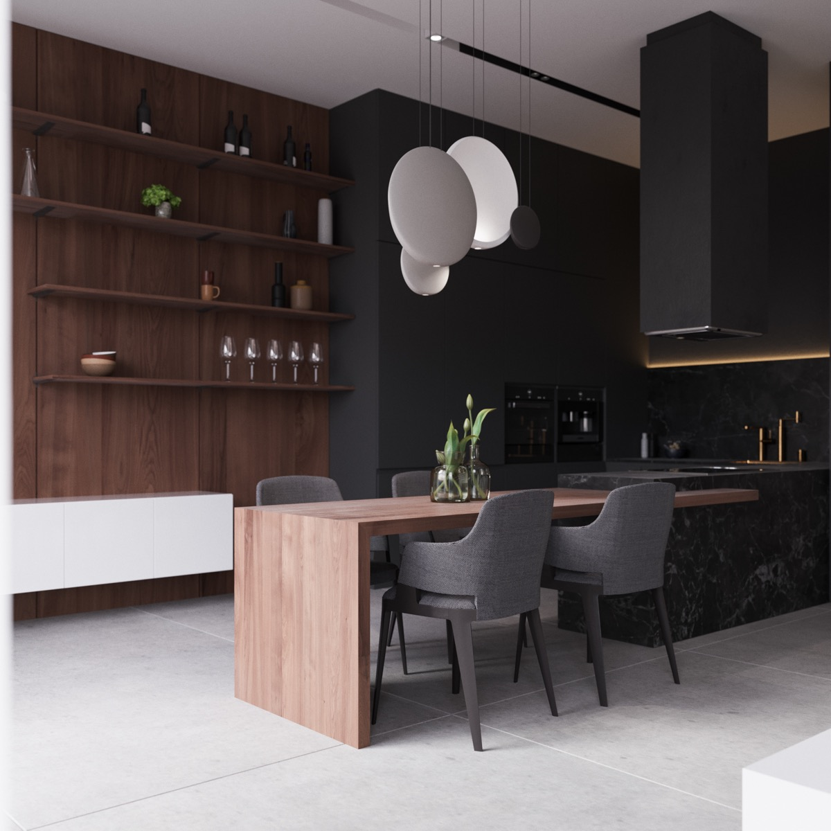 33 Black Dining Rooms That Your Dinner Guests Will Adore images 8