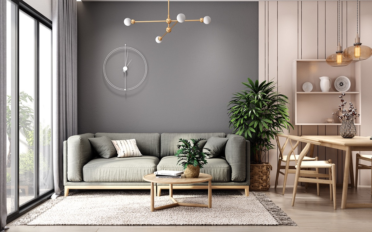 1 | & 4 Small Apartment Layout Ideas With Muted Pastel Decor