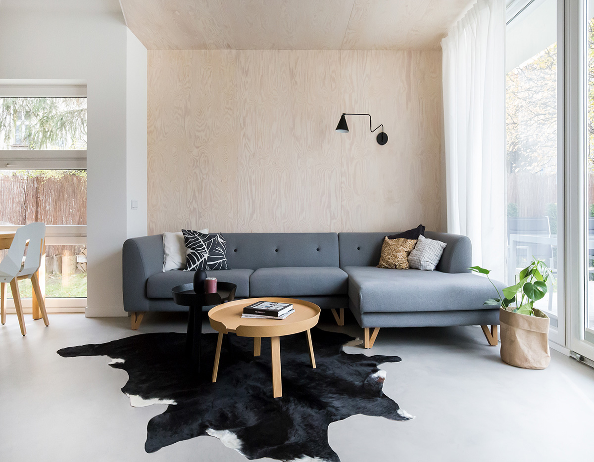 Scandinavian Style Interior With Pink And Blue Accents