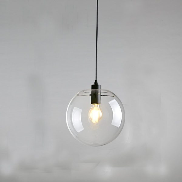 50 beautiful globe pendant lights from metal to glass to paper buy it e27 clear glass globe pendant aloadofball Gallery