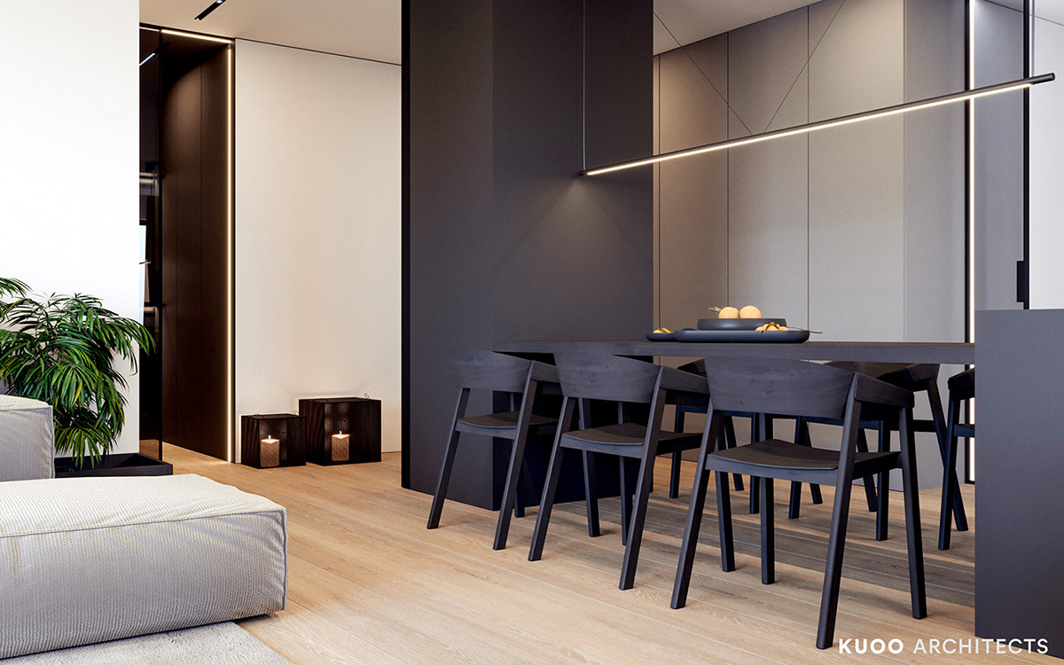 33 Black Dining Rooms That Your Dinner Guests Will Adore images 5