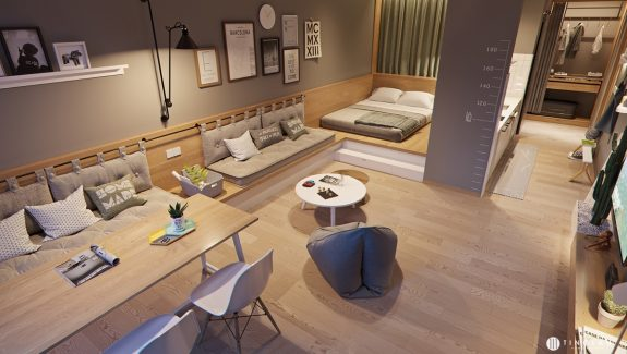 Stylish Streamlined One Room Living