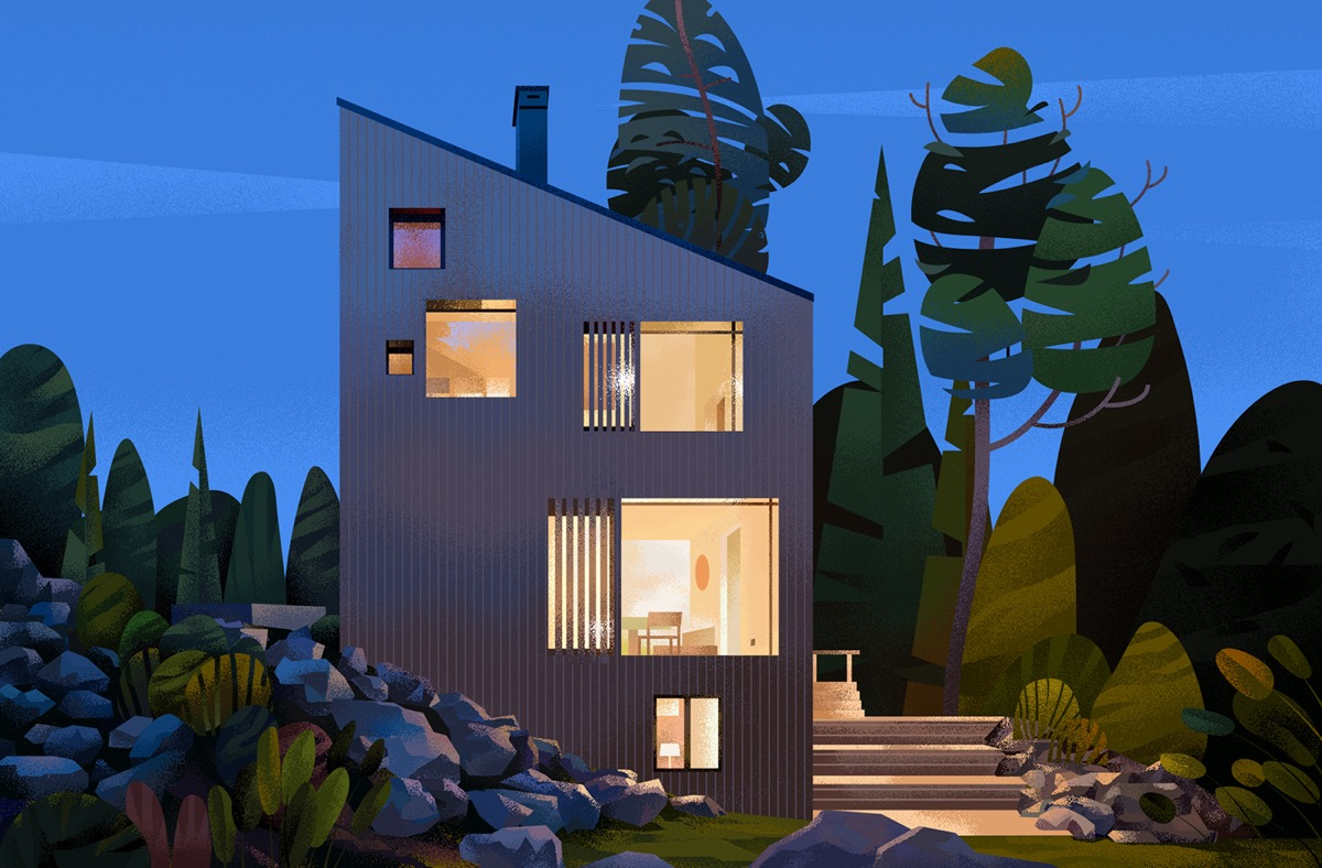 Captivating Architectural Illustrations Of Homes Around The World images 8